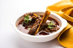 Mutton Masala Or Masala Gosht or indian lamb rogan josh Stock Photos