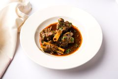 Mutton Masala Or Masala Gosht or indian lamb rogan josh Royalty Free Stock Photography
