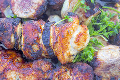 Mutton meat made as a  kebab. Stock Image