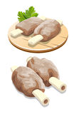 Mutton meat with ribs illustration Royalty Free Stock Photos