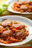 Mutton meatball with dressing Royalty Free Stock Photography