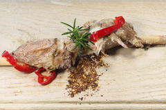 Mutton with red pepper Royalty Free Stock Photography