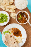 Mutton rogan josh meal Royalty Free Stock Photo