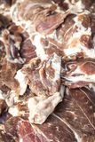 Mutton for sale at a traditional fair Royalty Free Stock Photography