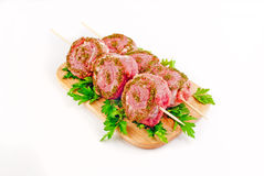 Mutton shashlik. Roll  on a shpazhka Stock Image