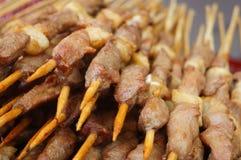 Mutton shashlik Stock Photo