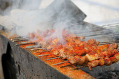 Mutton shashlik Stock Photography