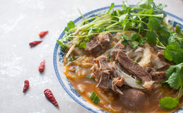 Mutton soup. Chinese cuisine,mutton soup ,Chinese used to drink mutton soup in winter to against the cold weather royalty free stock images