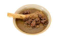 Mutton Soup. Goat Knuckle Mutton Soup, A Indian Cuisine Royalty Free Stock Image