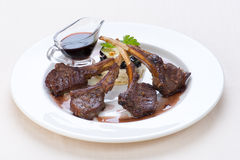 Mutton steak Royalty Free Stock Photo