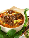 Mutton in Sweet and Spicy Soy Sauce Stock Photo