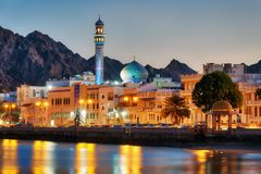 Muttrah Corniche, Muscat, Oman lizenzfreies stockfoto