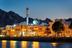 Muttrah Corniche, Muscateldruif, Oman Royalty-vrije Stock Fotografie