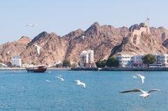 Muttrah Corniche, Muscateldruif, Oman Royalty-vrije Stock Foto