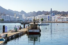 Muttrah Fish docks - Muscat, Oman Royalty Free Stock Images