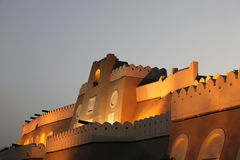 Muttrah gate at night, Oman Royalty Free Stock Image