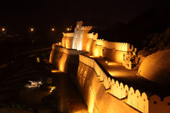 Muttrah gate at night, Oman Stock Images
