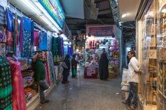 Muttrah Souq alla notte, Oman Fotografia Stock Libera da Diritti
