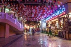 Muttrah Souq nachts, Oman Lizenzfreies Stockfoto
