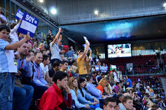 Mutua Open Madrid. Atmosphere in the tribune(Central Court Manolo Santana), at Mutua Open Madrid, 7 May 2013 Stock Photos