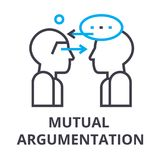 Mutual argumentation thin line icon, sign, symbol, illustation, linear concept, vector. Mutual argumentation thin line icon, sign, symbol, illustation, linear Stock Photography