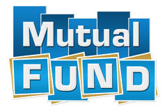Mutual Fund Blue Squares Stripes Royalty Free Stock Photography