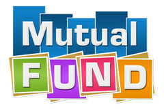 Mutual Fund Colorful Squares Stripes Stock Photo