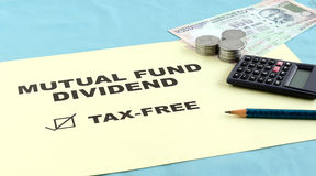 Mutual Fund Dividend and Tax Concept Stock Photos