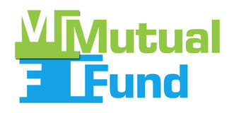 Mutual Fund Green Blue Abstract Stripes Stock Image