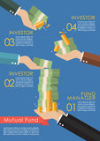 Mutual fund infographic concept Royalty Free Stock Photos