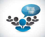 Mutual fund team message illustration Stock Photo