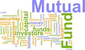 Mutual fund word cloud Stock Photo