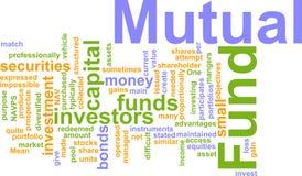 Mutual fund word cloud Stock Photo