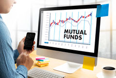 MUTUAL FUNDS Finance And Money Concept , Focus On Mutual Fund In