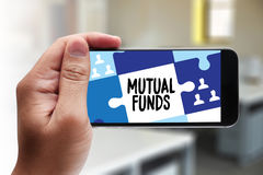 MUTUAL FUNDS Finance and Money concept , Focus on mutual fund i Royalty Free Stock Image