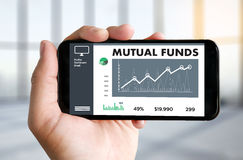 MUTUAL FUNDS Finance and Money concept , Focus on mutual fund in Royalty Free Stock Photos