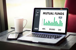 MUTUAL FUNDS Finance and Money concept , Focus on mutual fund in Stock Images
