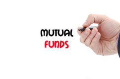 Mutual funds text concept Stock Photography