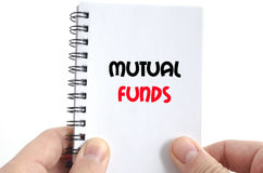 Mutual funds text concept Stock Images