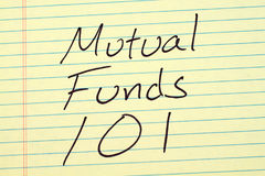 Mutual Funds 101 On A Yellow Legal Pad Royalty Free Stock Images