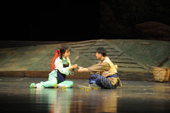Mutual humility food- Jiangxi opera a steelyard Royalty Free Stock Image