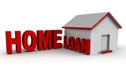 Mutuo ipotecario domestico illustrazione di stock