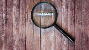 Mutuo ipotecario, lente d'ingrandimento Immagine Stock Libera da Diritti