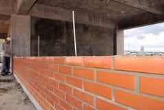 Muur in aanbouw Stock Foto's