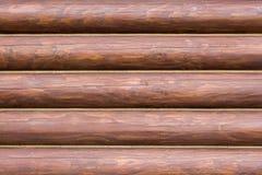 Muur als achtergrond die van logboeken wordt gemaakt Royalty-vrije Stock Foto