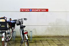 Muur in België Stock Fotografie