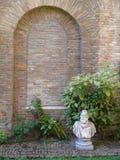 Muur bij oud kasteel Stock Fotografie