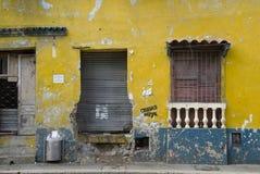 Muur in de straat van Cartagena Royalty-vrije Stock Foto's