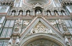 Muur Di Santa Maria del Fiore van de Basiliek Stock Afbeeldingen