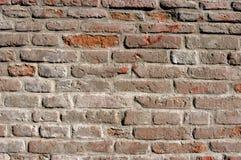 Muur die van bakstenen wordt gemaakt stock afbeeldingen